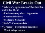 civil war breaks out