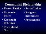 communist dictatorship