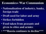 economics war communism