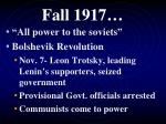 fall 1917