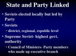 state and party linked