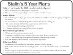 stalin s 5 year plans