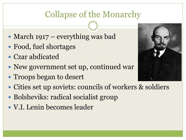 Collapse of the Monarchy