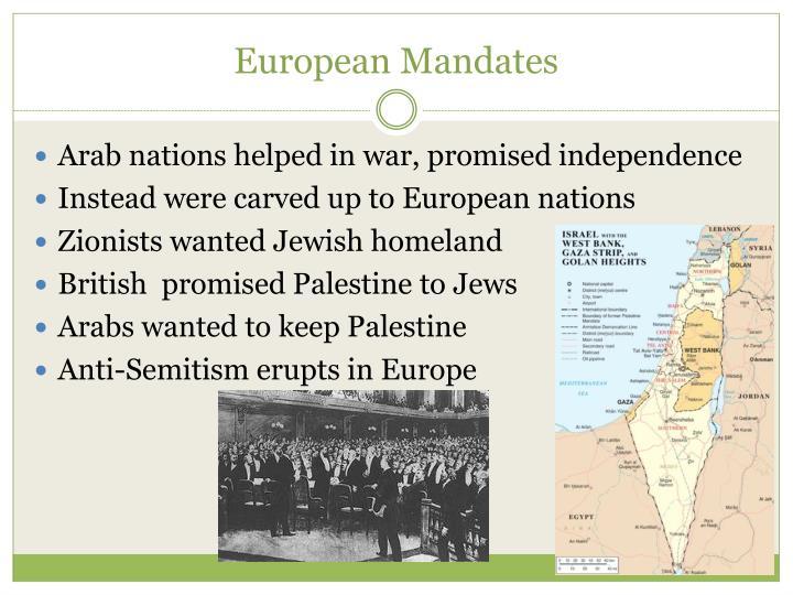 European Mandates