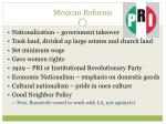 mexican reforms