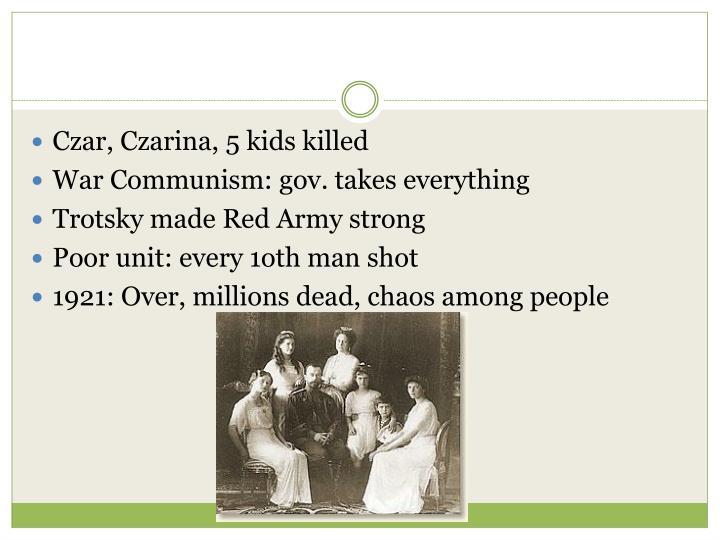 Czar, Czarina, 5 kids killed