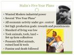 stalin s five year plans