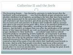 catherine ii and the serfs