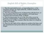 english bill of rights examples