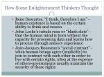 how some enlightenment thinkers thought