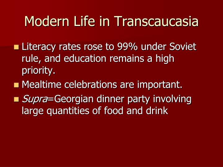 Modern Life in Transcaucasia