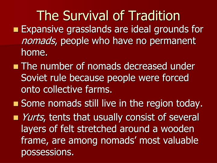 The Survival of Tradition