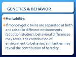 genetics behavior4