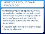 genetics evolutionary psychology1