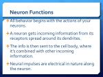 neuron functions
