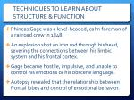 techniques to learn about structure function2