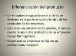 diferenciaci n del producto