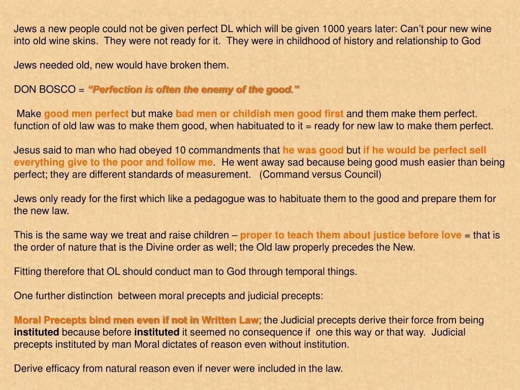 PPT - Politics and Christian Civilization Divine Old Law