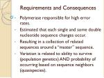 requirements and consequences