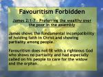 favouritism forbidden1