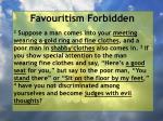 favouritism forbidden14