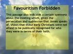 favouritism forbidden16