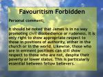 favouritism forbidden27