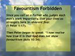 favouritism forbidden3