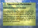favouritism forbidden36