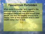 favouritism forbidden39