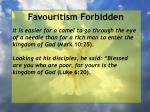 favouritism forbidden41