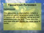 favouritism forbidden45