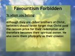 favouritism forbidden52