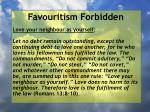 favouritism forbidden59