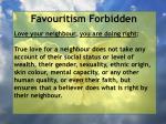 favouritism forbidden61
