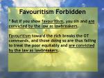 favouritism forbidden64