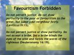favouritism forbidden66