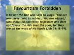 favouritism forbidden67