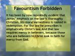 favouritism forbidden77