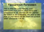 favouritism forbidden99