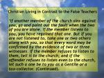 christian living in contrast to the false teachers102