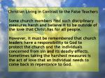 christian living in contrast to the false teachers108