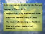 christian living in contrast to the false teachers3
