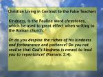 christian living in contrast to the false teachers46
