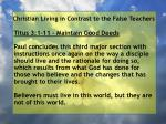 christian living in contrast to the false teachers5