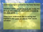 christian living in contrast to the false teachers51