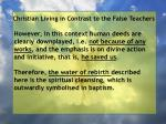 christian living in contrast to the false teachers52