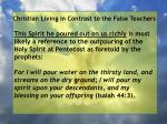 christian living in contrast to the false teachers55