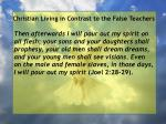 christian living in contrast to the false teachers56