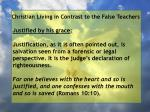 christian living in contrast to the false teachers66